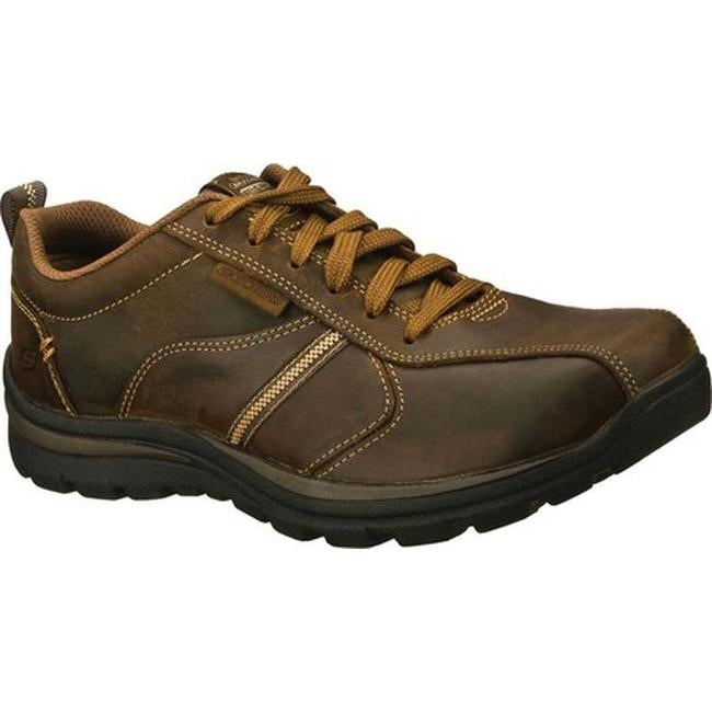 SKECHERS Relaxed Fit Superior Levoy Men's Shoes Dark Brown