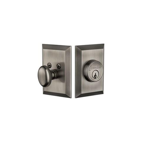 Grandeur FAVFAV_SGLCYL_234 Fifth Avenue Solid Brass Keyed Entry Single Cylinder - N/A