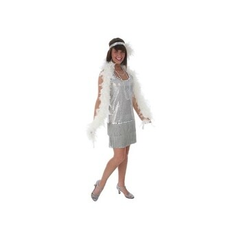 Shop Silver Plus Size Flapper Dress Costume Ships To Canada