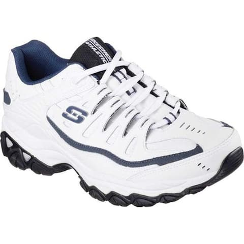 Skechers Men's After Burn Memory Fit Reprint White/Navy