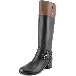 Bandolino Cavendish Women Round Toe Leather Black Mid Calf Boot