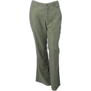 NYDJ Womens Plus Trouser Jeans Linen Slimming
