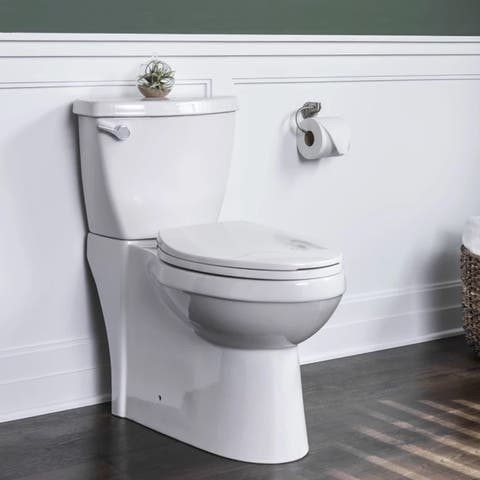 Miseno MNO490C High Efficiency 1.28 GPF Two-Piece Elongated Chair Height Toilet with Slow-Close Seat and Wax Ring Included