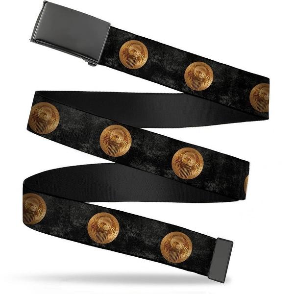 Blank Black Bo Buckle Macusa Seal2 Black Grays Golds Webbing Web Belt