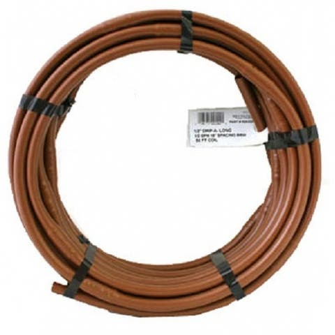 "Raindrip R292DP Drip-A-Long Poly Soaker Hose, Black, 1/2"" x 50'"