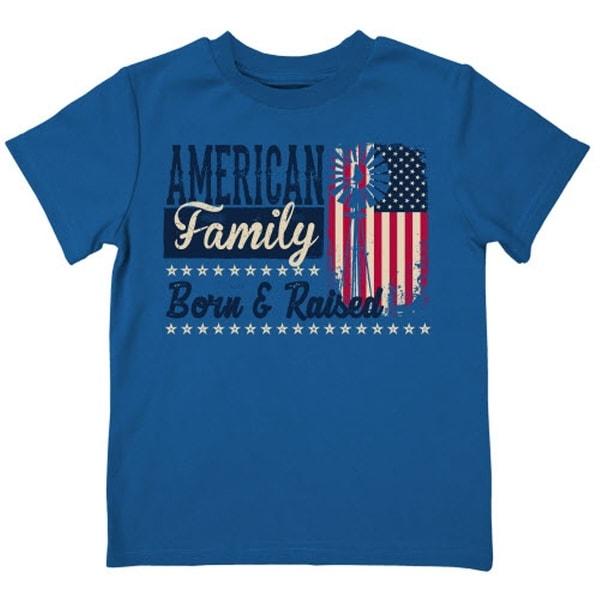 Farm Boy Western Shirt American Family S/S Tee True Blue