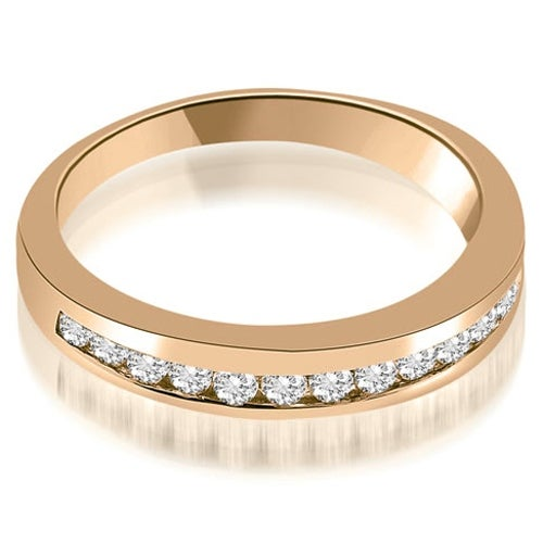 0.45 cttw. 14K Rose Gold Classic Channel Round Cut Diamond Wedding Band