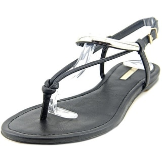BCBGeneration Frida Women  Open Toe Leather Black Thong Sandal
