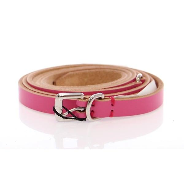 Dolce & Gabbana Pink Double Wrap Leather Logo Belt