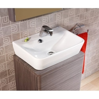 "Bissonnet 27080 Emma 19-7/10"" Vessel Sink with Overflow and Single Faucet Hole"