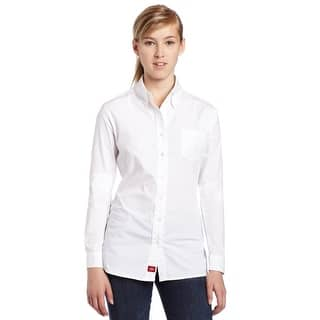Dickies Girl Juniors Long Sleeve Button Front Poplin Shirt,White,Large|https://ak1.ostkcdn.com/images/products/is/images/direct/693f71e04f3781f16a0d16cff3cef0d6119767d6/Dickies-Girl-Juniors-Long-Sleeve-Button-Front-Poplin-Shirt%2CWhite%2CLarge.jpg?impolicy=medium