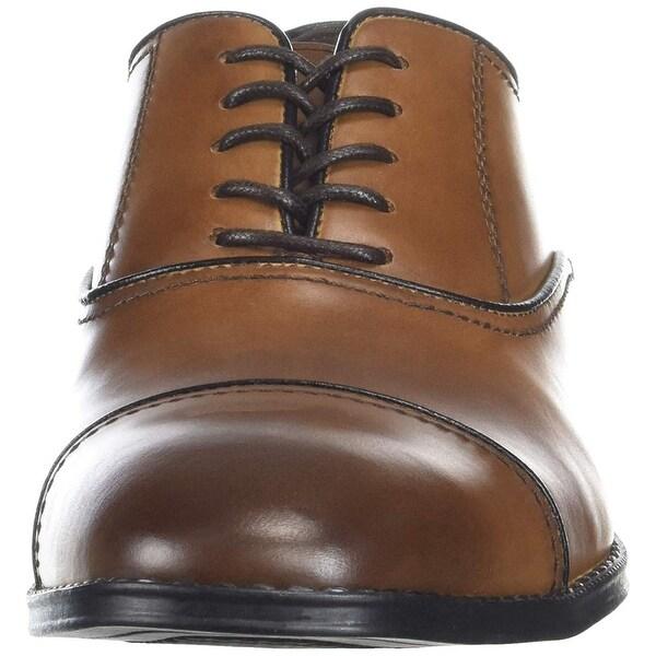 Kenneth Cole Reaction Reggie Lace Up Mens Brown Dress Lace Up Oxfords Shoes