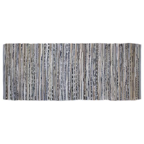 DII Recycled Fabric Striped Handmade Rag Rug