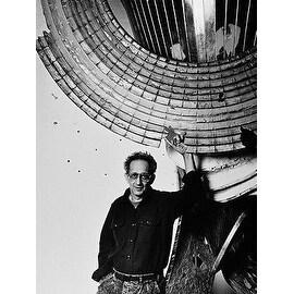 Frank Stella, Vintage 1987 Gelatin Silver Photograph, Jack Mitchell