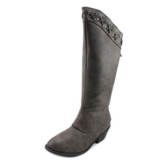 Volatile Lynah Round Toe Leather Mid Calf Boot