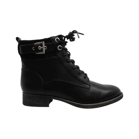 Aldo Women's Shoes Lothiendra Leather Closed Toe Ankle Combat Boots