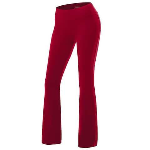 Womens Yoga Pants Active Slim Fit Bootleg Yoga Casual Pants
