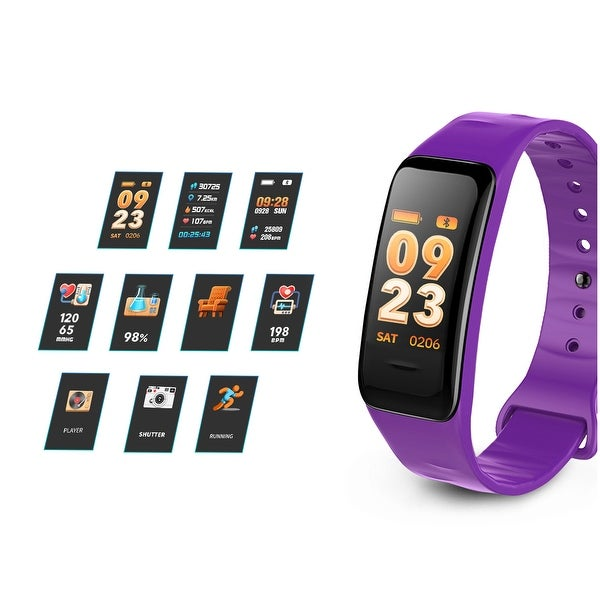 Blood Pressure Fitness Tracker Activity Tracker Waterproof Smart Wristband for Kids Women Men - M. Opens flyout.