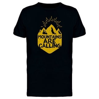 Grunge Yellow Mountains Tee Men's -Image by Shutterstock