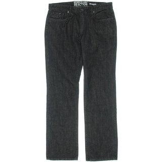 Kenneth Cole Reaction Mens Straight Fit Low Rise Straight Leg Jeans