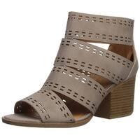 Qupid Women's Core-57 Heeled Sandal