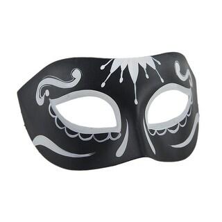 Sugar Skull Masquerade Black & White Eye Mask