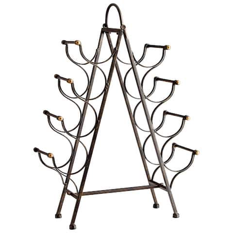 """Cyan Design 09842 Riesling Tower 7-1/2"""" Wide Iron Wine Rack with an 8 Bottle Capacity - Bronze"""