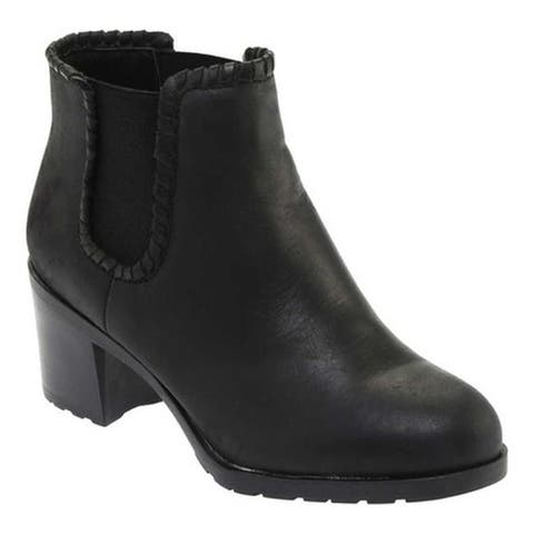 Jack Rogers Women's Pippa Chelsea Boot Black Leather
