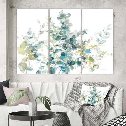 Porch & Den 'Eucalyptus Natural Element' Farmhouse Canvas Art