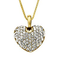 Crystaluxe Heart Pendant with Swarovski elements Crystals in 18K Gold-Plated Sterling Silver