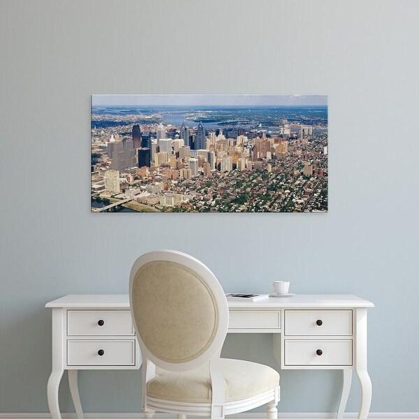 Easy Art Prints Panoramic Images's 'Aerial view of a city, Philadelphia, Pennsylvania, USA' Premium Canvas Art