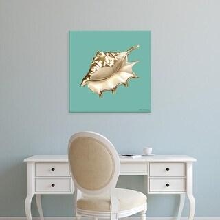Easy Art Prints Megan Meagher's 'Shell on Aqua IV' Premium Canvas Art