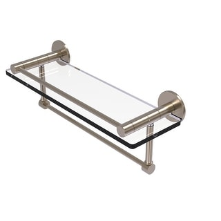Allied Brass Fresno Collection Glass Shelf with Vanity Rail and Integrated Towel Bar