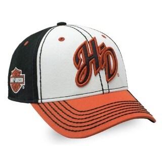 Harley-Davidson Women's Glitter H-D Initials Colorblocked Baseball Cap BC26266