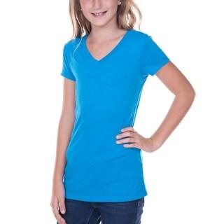 Kavio!Big Girls 7-16 Sheer Jersey V Neck Penny Pocket Short Sleeve (More options available)