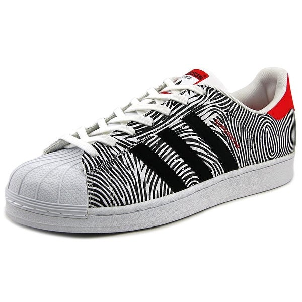 Adidas Superstar FP Men Round Toe Leather White Sneakers