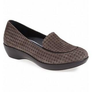 Dansko NEW Gray Women Shoe Size 6M Debra Houndstooth Suede Loafer