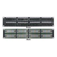 Offex Rackmount 48 Port Cat5e Patch Panel, Horizontal, 110 Type, 568A & 568B Compatible, 2U