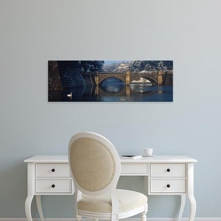Easy Art Prints Panoramic Images's 'Bridge Nijubashi Tokyo Japan' Premium Canvas Art