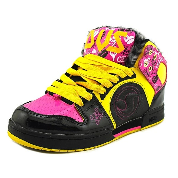 DVS Aces High Women Pink/Black/Yellow/Zebra Sneakers Shoes
