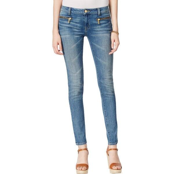4693e879e1ad7 Shop MICHAEL Michael Kors Womens Petites Skinny Jeans Denim Mid Rise - 6P -  Free Shipping Today - Overstock - 21809636