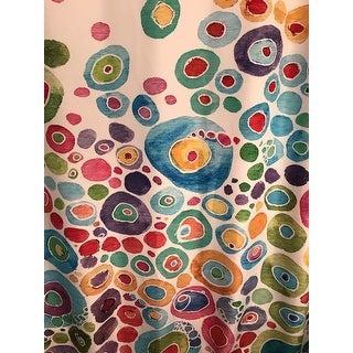 KESS InHouse Catherine Holcombe Inner Circle White Shower Curtain (69x70)