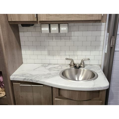"12""x12"" Peel and Stick Backsplash Tile for Kitchen White Subway Tile(10-Pack)"