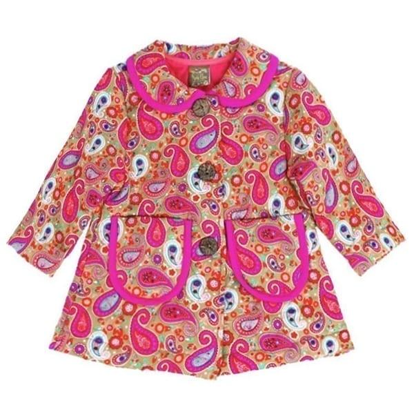 819f6ea8e Shop Maria Elena Little Girls Pink Paisley Pattern Peter Pan Collar ...