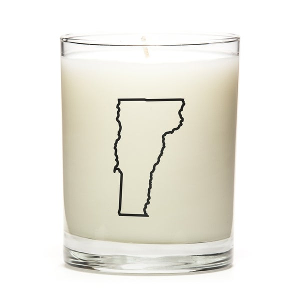Custom Candles with the Map Outline Vermont, Pine Balsam