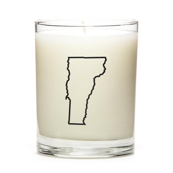 Custom Gift - Map Outline of Vermont U.S State, Apple Cinnamon