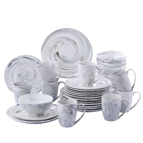 vancasso Clay, 16-Piece Grey Stoneware Dinnerware Set, Service for 4