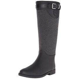 Dav Womens Weston Houndstooth Pull On Rain Boots - 9 medium (b,m)
