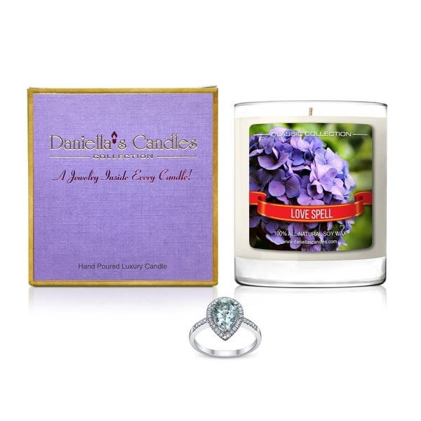 Daniella's Candles Love Spell Jewelry Candle, Ring Size 5