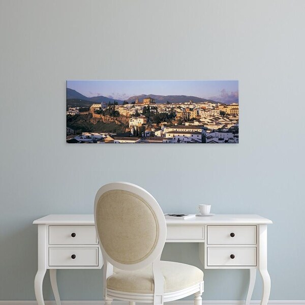 Easy Art Prints Panoramic Images's 'High angle view of a town, Ronda, Andalucia, Spain' Premium Canvas Art